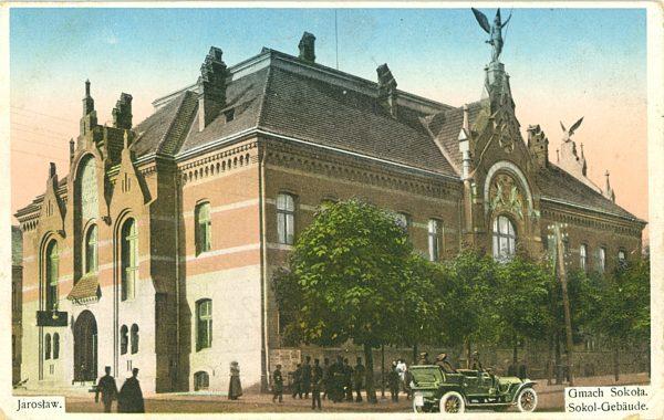 Jarosław. Gmach Sokoła [pocztówka]