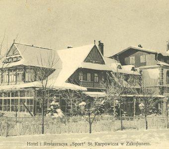 """Hotel i Restauacja """"Sport"""" w Zakopanem [pocztówka]"""