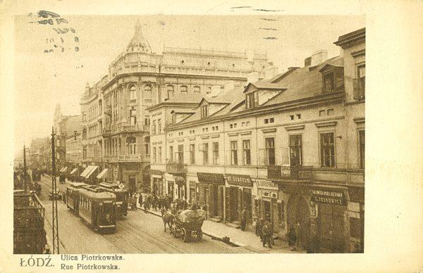 Łódź. Ulica Piotrkowska [pocztówka]