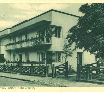 """Truskawiec-Zdrój. Hotel """"Farys"""" [pocztówka]"""