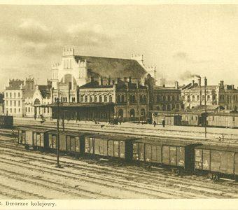 Brześć n/B. Dworzec kolejowy [pocztówka]