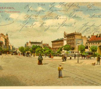 Warszawa. Krakowskie Przedmieście [pocztówka]