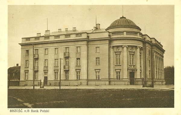 Brześć n/B. Bank Polski [pocztówka]