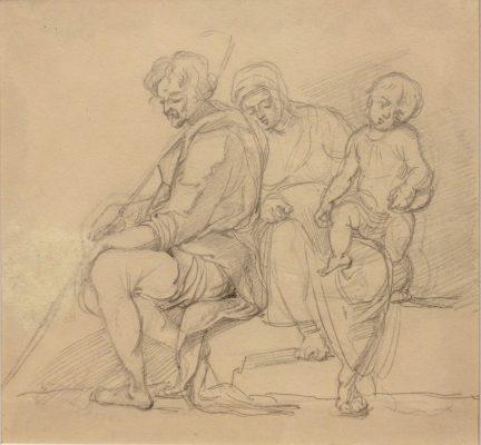 NORWID CYPRIAN KAMIL Odpoczynek w drodze do Egiptu [rysunek]