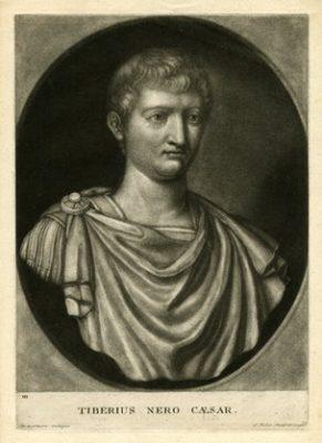 FABER JOHN Tiberius Nero Caesar [mezzotinta]