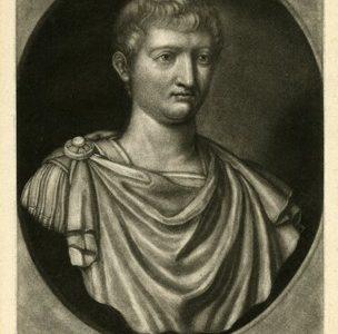 FABER JOHN - Tiberius Nero Caesar [mezzotinta]