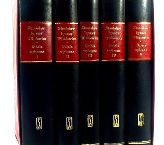 WITKIEWICZ STANISŁAW IGNACY - Dzieła wybrane t. 1-5 [wydanie bibliofilskie]