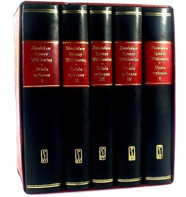 WITKIEWICZ STANISŁAW IGNACY Dzieła wybrane t. 1-5 [wydanie bibliofilskie]