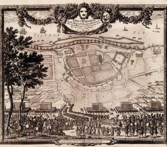 PUFENDORF SAMUEL, DAHLBERGH ERIK - Plan Warszawy [miedzioryt]