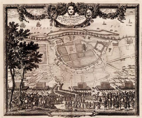 PUFENDORF SAMUEL, DAHLBERGH ERIK Plan Warszawy [miedzioryt]