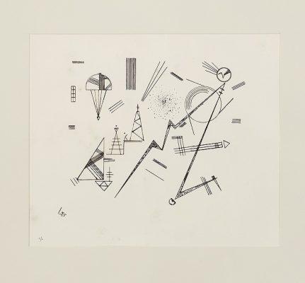 KANDINSKY WASSILY Kompozycja abstrakcyjna [litografia, sygnowana]