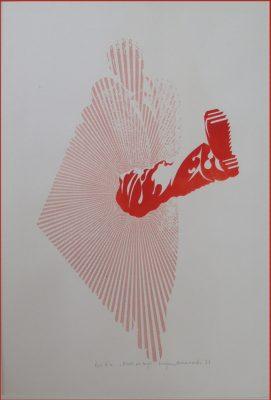 MIANOWSKI LUCJAN Kroki we mgle [litografia sygnowana]