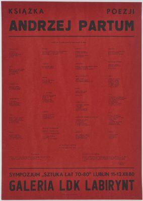 PARTUM ANDRZEJ Książka poezji [plakat]