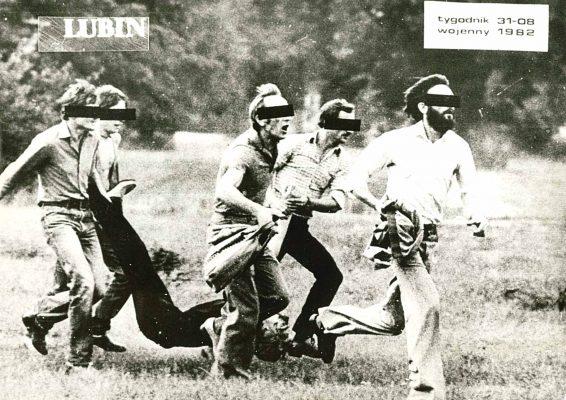 RACZKOWIAK KRZYSZTOF Pacyfikacja [zbiór 5 fotografii z Lubina 1982 r.]