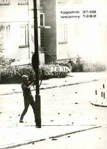 RACZKOWIAK KRZYSZTOF - Pacyfikacja [zbiór 5 fotografii z Lubina 1982 r.]
