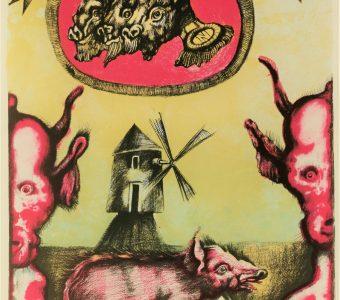 LEBENSTEIN JAN - z cyklu Folwark zwierzęcy  [litografia sygnowana]