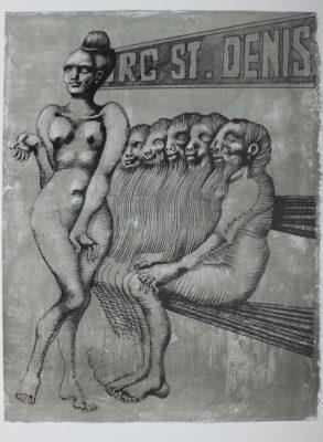 LEBENSTEIN JAN Faubourg St. Denis [litografia sygnowana] 1
