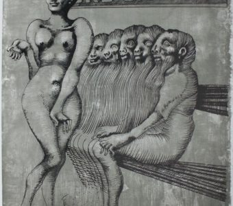 LEBENSTEIN JAN - Faubourg St. Denis [litografia sygnowana]