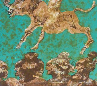 LEBENSTEIN JAN - Zwierzęta [litografia sygnowana]