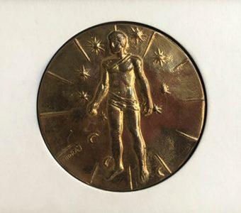 MITORAJ Igor - Articulations [medal, brąz patynowany]