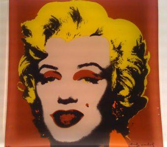 WARHOL ANDY - Marilyn Monroe pink [szklana patera]