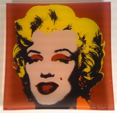 WARHOL ANDY Marilyn Monroe pink [szklana patera]