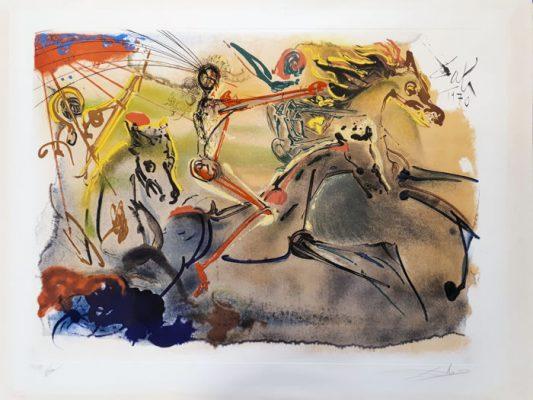 DALI SALVADOR Les Cavaliers des L`Apocalypse [litografia, sygnowana]