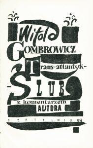 GOMBROWICZ WITOLD - Trans-atlantyk, Ślub