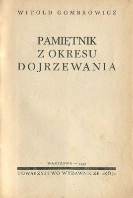GOMBROWICZ WITOLD Pamiętnik z okresu dojrzewania
