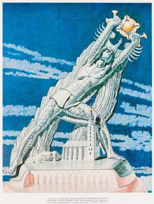 SZUKALSKI STANISŁAW Pomnik Kopernika [serigrafia]