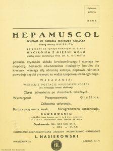 TREPKOWSKI TADEUSZ - Hepamuscol [reklama]