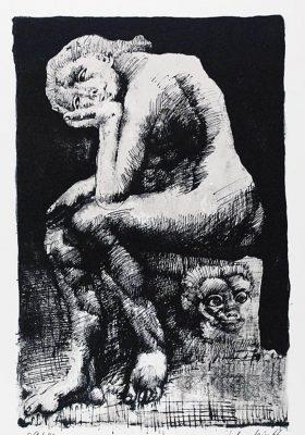 LEBENSTEIN JAN Cnotka [litografia sygnowana]