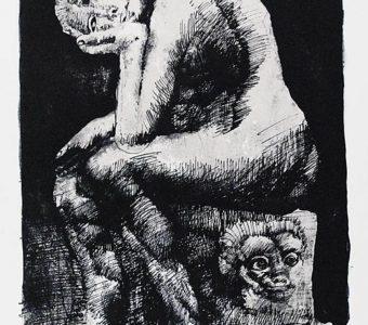 LEBENSTEIN JAN - Cnotka [litografia sygnowana]