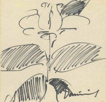 DOMINIK TADEUSZ Róża [rysunek sygnowany]