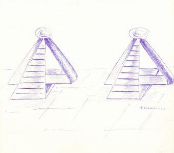 ŚLESIŃSKA MAGDALENA - Kompozycja [rysunek sygnowany] 3