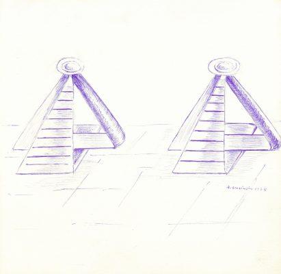 ŚLESIŃSKA MAGDALENA Kompozycja [rysunek sygnowany] 3