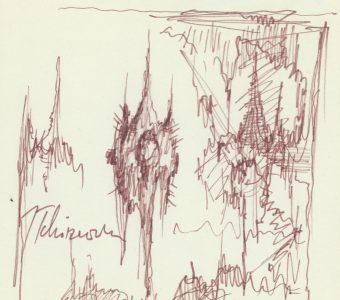 TCHÓRZEWSKI JERZY - Kompozycja [rysunek sygnowany] 2