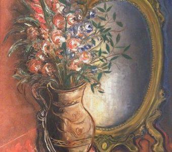 STERLING MARC - Martwa natura z lustrem [olej na płótnie]
