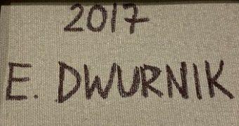DWURNIK EDWARD - Kontrabasista [akryl na płótnie]