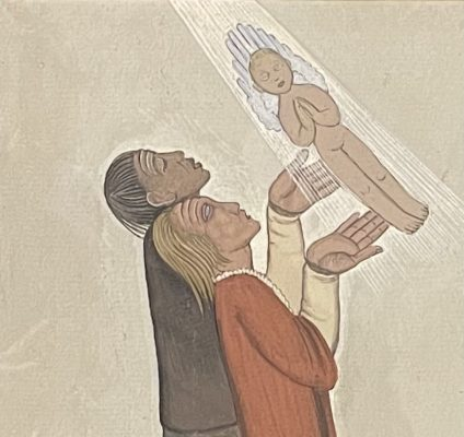 LAMBERT-RUCKI JEAN Modlitwa o dziecko [olej na tekturze]