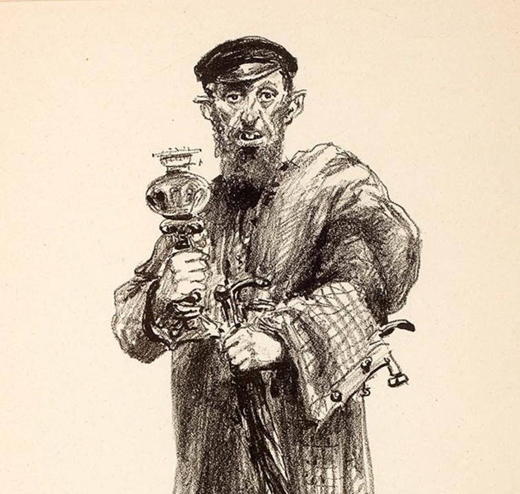 Żydowski handlarz starzyzną [litografia]