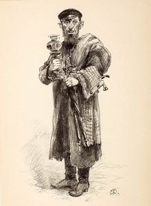RAPACKI JÓZEF - Żydowski handlarz starzyzną [litografia]