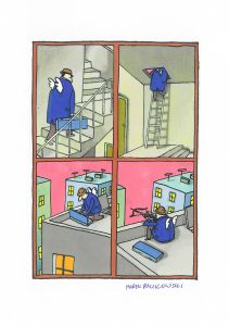 RACZKOWSKI MAREK - Amor [rysunek sygnowany]