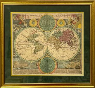 HOMANN JOHANN B. - Mapa świata [miedzioryt]