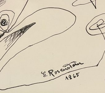 ROSENSTEIN ERNA - Kompozycja [rysunek piórkiem]