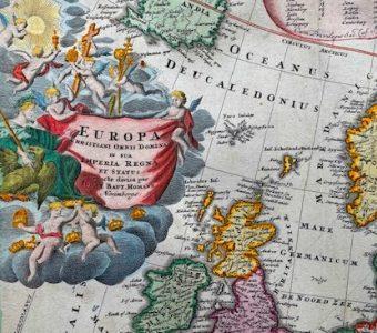 HOMANN JOHANN BAPTIST - Mapa Europy [Europa christiani orbis domina]