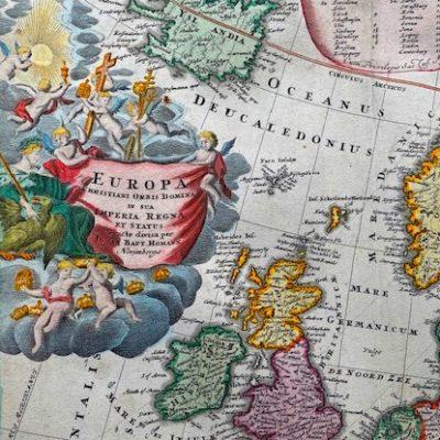 HOMANN JOHANN BAPTIST Mapa Europy [Europa christiani orbis domina]