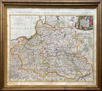 SCHENK PETER - Mapa Polski [Estats de Pologne subdivises suivant Lestendue des Palatinats]