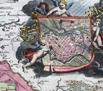 HOMANN JOHANN BAPTIST - Mapa Śląska z planem Wrocławia [Superioris et Inferioris Ducatus Silesiae]