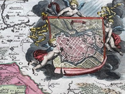 HOMANN JOHANN BAPTIST Mapa Śląska z planem Wrocławia [Superioris et Inferioris Ducatus Silesiae]